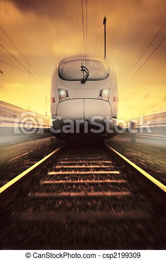 trem, em movimento, rapidamente - csp2199309