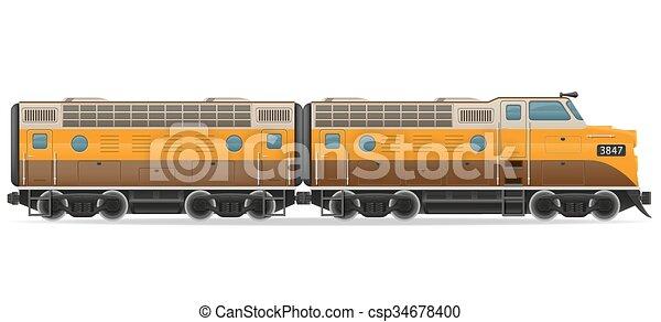 trem estrada ferro vetorial locomotiva ilustração trem isolado