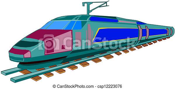 trem expresso - csp12223076