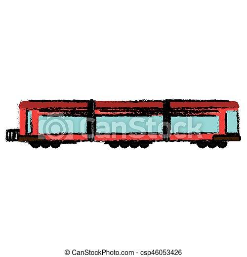 trem passageiro, locomotiva, transporte - csp46053426