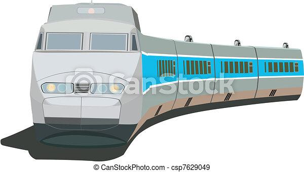 trem passageiro, rapidamente - csp7629049