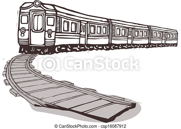trem, puxando - csp16087912