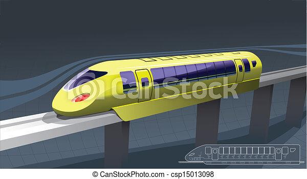trem, rapidamente - csp15013098