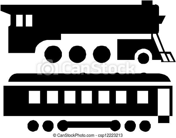 trem, silueta - csp12223213