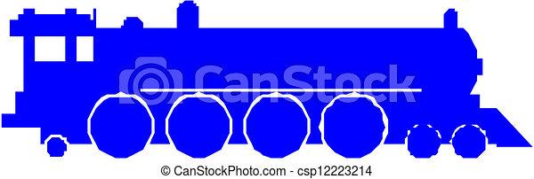 trem, silueta - csp12223214