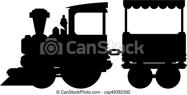 trem, silueta - csp49382392