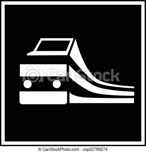 trem, silueta, sinal - csp22788274