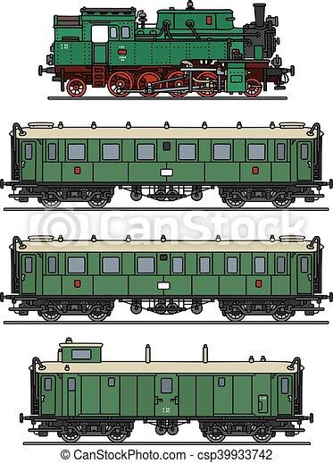 trem, vapor, clássicas - csp39933742