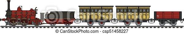 trem, vapor, histórico - csp51458227