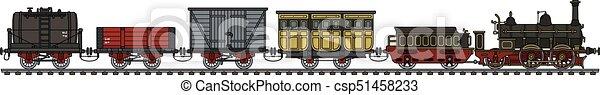 trem, vapor, histórico - csp51458233
