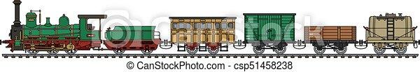 trem, vapor, histórico - csp51458238