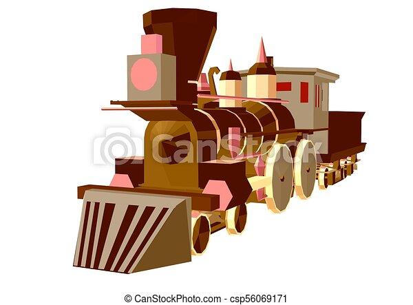 trem, vapor, poly, baixo - csp56069171