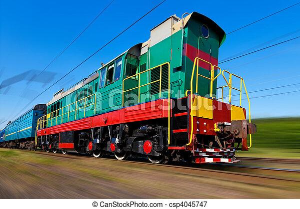 trem velocidade alto, diesel - csp4045747