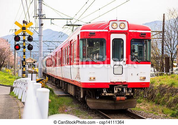 trem, vermelho - csp14111364