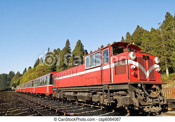 trem, vermelho - csp6084087