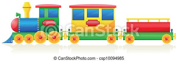 trem, vetorial, crianças, ilustração - csp10094985