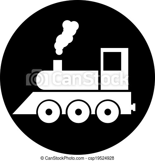 trem, vetorial - csp19524928