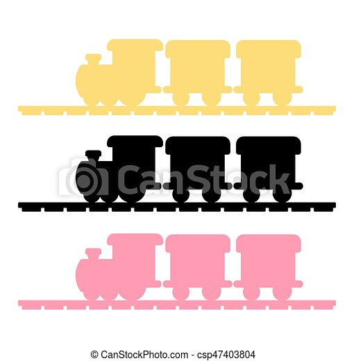 trem, vetorial, silueta - csp47403804