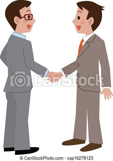tremante, uomini affari, mani - csp16278123