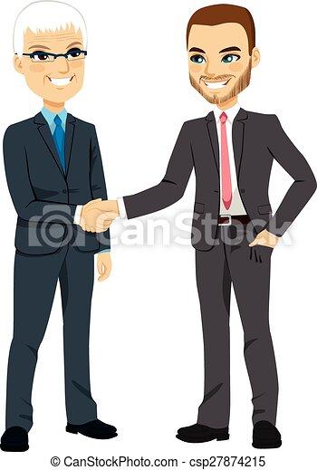 tremante, uomini affari, mani - csp27874215