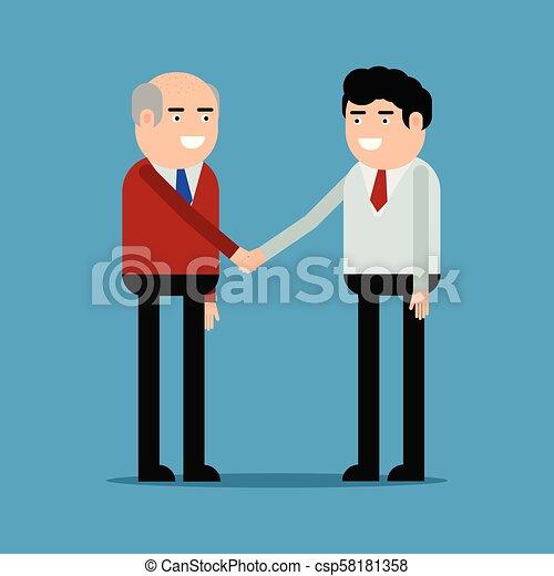tremante, uomini affari, mani - csp58181358