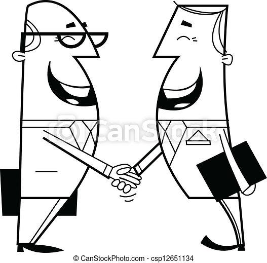 tremante, uomini affari, mani - csp12651134