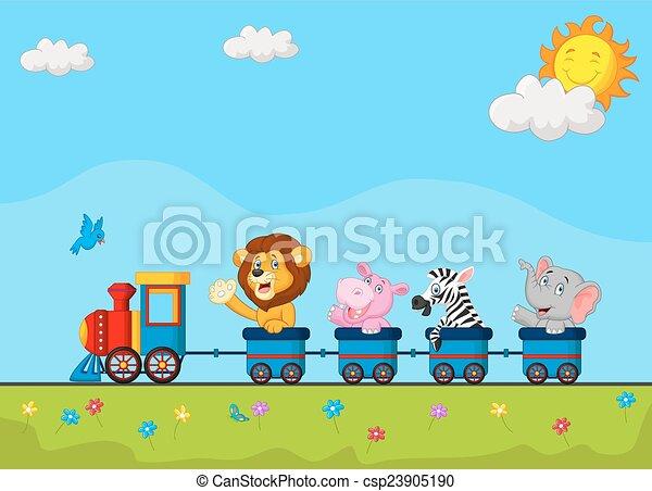 Grficos vectoriales EPS de tren animales  Vector ilustracin