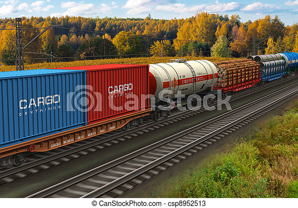 tren, carga - csp8952513