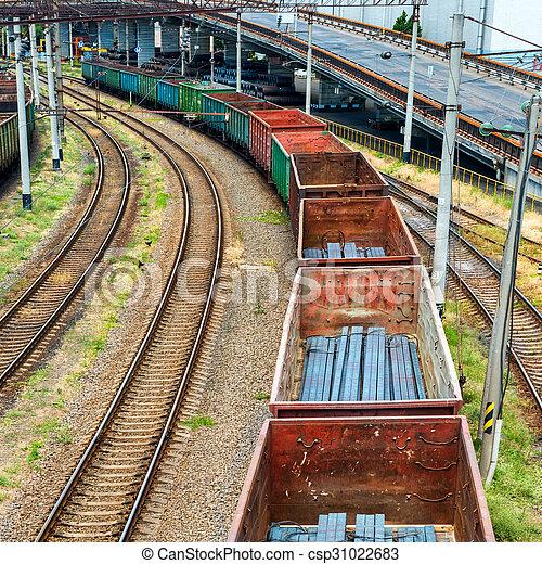 tren carga, carros - csp31022683