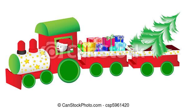 Tren de Navidad - csp5961420