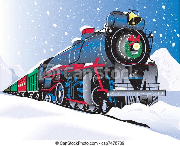 Tren de Navidad - csp7478739