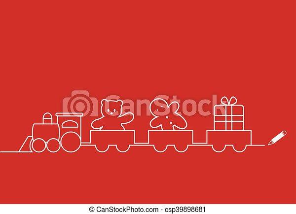 Tren de Navidad - csp39898681