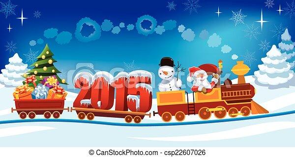 Tren de Navidad - csp22607026