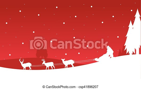 Landscape de tren Santa Navidad - csp41896207
