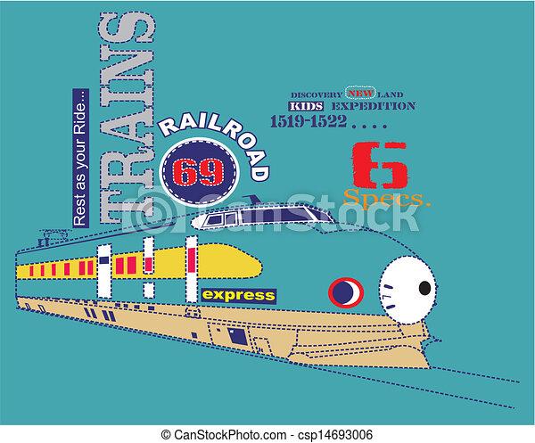 Paseo en tren desde vector - csp14693006