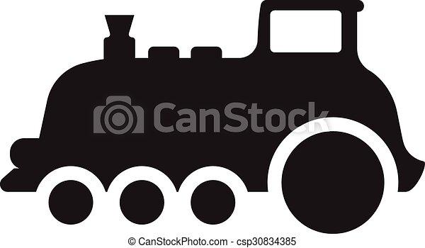 El símbolo del icono del tren ilustración vectorial - csp30834385