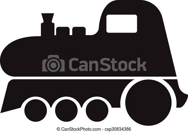 El símbolo del icono del tren ilustración vectorial - csp30834386