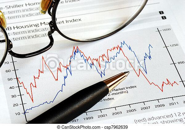 trend, analyseren, investering - csp7962639
