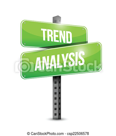 Trend Analysis Sign Illustration Design Over A White  Vectors