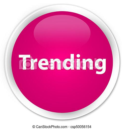 Trending premium pink round button - csp50056154