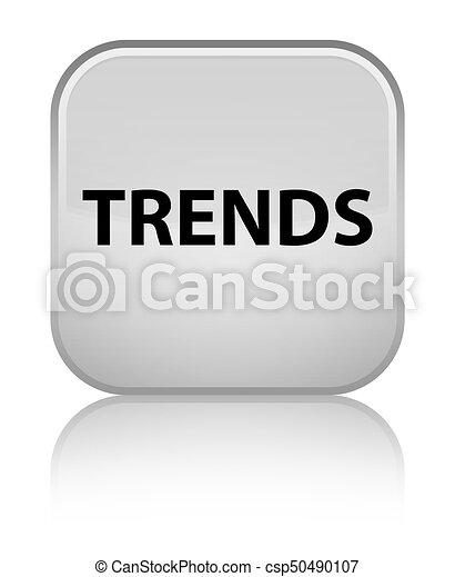 Trends special white square button - csp50490107