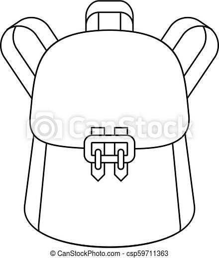 65857a4c8 Trendy backpack icon, outline style. Trendy backpack icon. outline ...