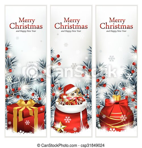 Trendy Christmas Banners - csp31849024
