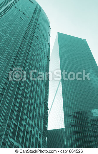 trendy, costruzione, architettura moderna - csp1664526