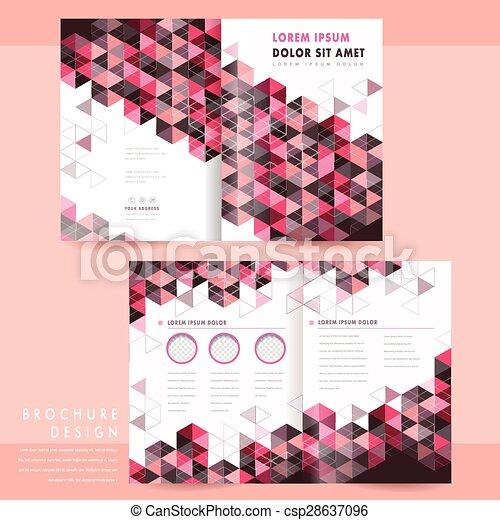 trendy half-fold template design - csp28637096