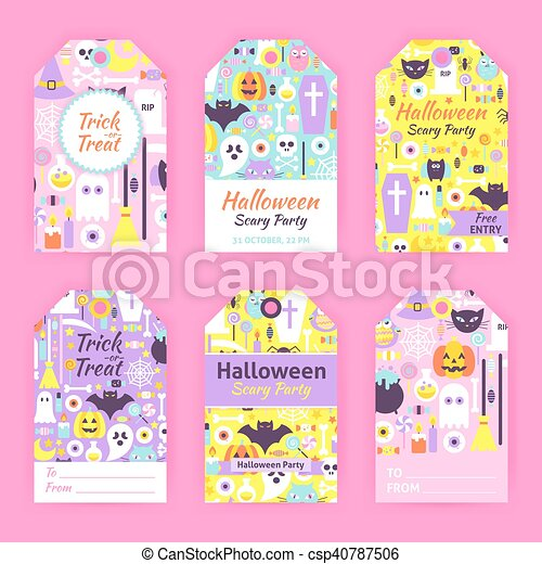 photo about Printable Halloween Gift Tags titled Stylish Halloween Reward Tag Labels