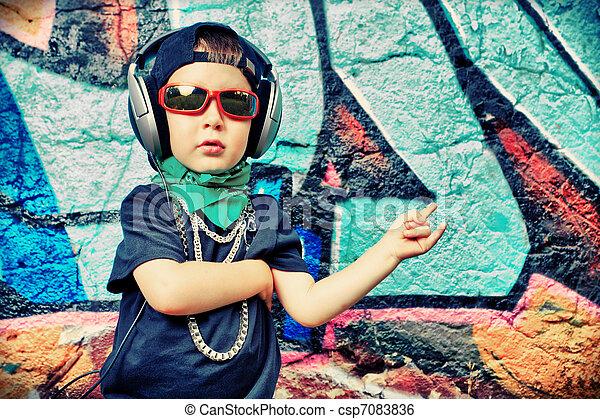 trendy kid - csp7083836
