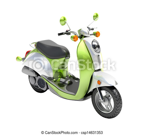 Trendy retro scooter close up - csp14631353