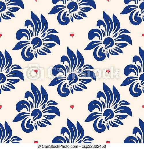 Trendy seamless floral pattern - csp32302450
