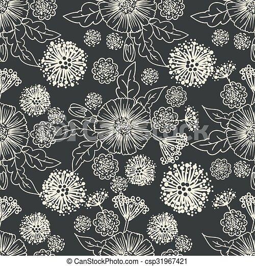 Trendy Seamless Floral Pattern - csp31967421